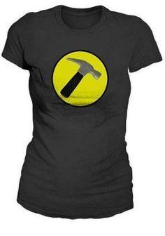 Amazon.com: Dr. Horrible's Sing-A-Long Blog Captain Hammer Logo Replica Juniors/Womens T-Shirt: Clothing