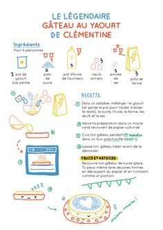 macocobox novembre - easy yaourt cake recipe / recette du gateau au yaourt - cook book illustration / illustration de carnet de recettes -  camille chauchat
