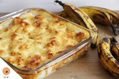 #LGDK : Gratin de bananes plantain Cake Factory, Vegan Vegetarian, Cauliflower, Macaroni And Cheese, Menu, Dishes, Vegetables, Cooking, Healthy