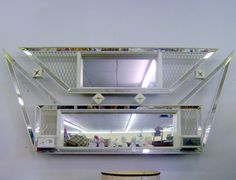 Atomic Mirror Shadow Box 1960s Mid Century Modern by cherryrivers, $220.00