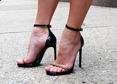 Little Red Dress | High Heel Hydrangeas  YSL Ankle Strap Shoes  instagram.com/highheelhydrangeas