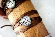leather wrap bracelet - nice!  #handmade #jewelry #bracelet