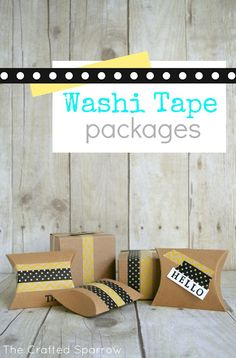 Washi Tape Packages #washitape www.thecraftedsparrow.com