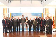 Su Majestad el Rey Don Felipe con la junta directiva de la Confederación Empresarial de la provincia de Tarragona (CEPTA). 16.03.2015