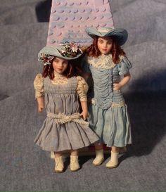DOLLSHOUSE  Mini Fun  Vintage AMERICA   COWBOY   Picture Print Set CDHM  1:12