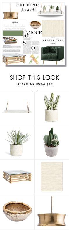 """Cacti + Succulents"" by nina-lala ❤ liked on Polyvore featuring interior, interiors, interior design, home, home decor, interior decorating, Allstate Floral, Nuevo, West Elm and Costa"