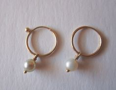 Gabrielle Sanchez Fresh Water Pearl Delicate Drop Earrings                 http://nomadcreativenomad.storenvy.com/