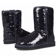 Black Sparkle Ugg Boots. My favorite boots!