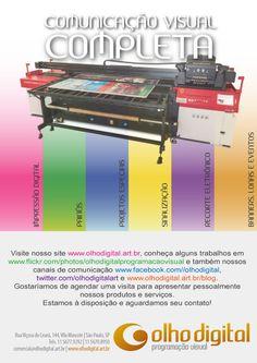 https://flic.kr/p/uzLChy | Comunicação Visual Completa! cote conosco : comercial@olhodigital.art.br