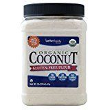 BetterBody Foods Organic Coconut Flour — A Naturally Gluten-Free White Flour Alternative With A Slight Coconut Taste and Aroma, 23% Dietary Fiber per Serving — 1 lb
