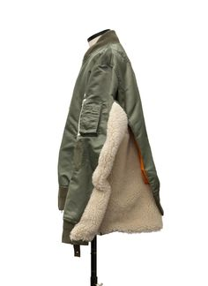 Mens Fashion Week, Sport Fashion, Off White Fashion, Denim Patchwork, Winter Trends, Field Jacket, Sweater Coats, Military Fashion, Custom Clothes