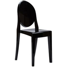 Burton Ghost  Side Chair In Black (Set of 2) | Modern Dining Chair by EdgeMod at Contemporary Modern Furniture  Warehouse