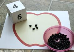 Preschool Apple Seed Counting Activity
