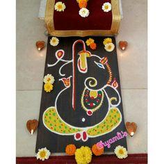 Ganapati rangoli for chaturthi
