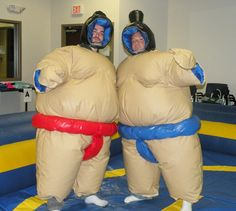 An inflatable ring and costumes allowed customer service agents to compete against supervisors in this ancient sport.
