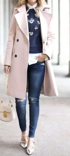 winter outfits coat Herbstmode, warm bleiben in de - winteroutfits Winter Outfits For Work, Casual Winter Outfits, Stylish Outfits, Fall Outfits, Winter Dresses, Winter Clothes, Early Spring Outfits, Stylish Clothes, Outfit Winter