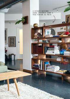 bookcase as room divider #decor #loft #estantes