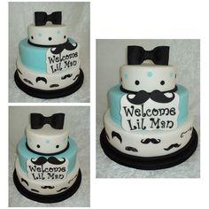 mustache baby shower cakes   Lil Man(Mustache) Cake — Baby Shower