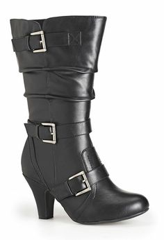 Penelope Heeled Buckle Boot, , large