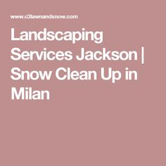 Landscaping Services Jackson | Snow Clean Up in Milan
