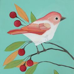 simple bird painting - Google Search