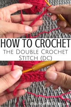 How to Crochet the Double Crochet (Video Tutorial) http://hearthookhome.com/how-to-crochet-the-double-crochet-stitch/