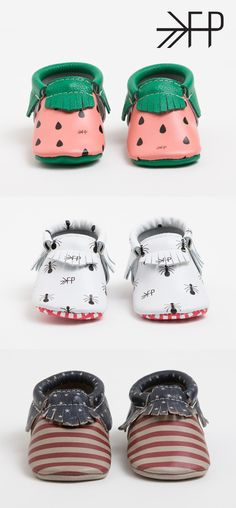 Printed baby moccasins from the Summer Picnic Collection Little Babies, Cute Babies, Baby Kids, Babies Stuff, Baby Girl Fashion, Kids Fashion, Freshly Picked Moccasins, Everything Baby, Baby Girl Shoes