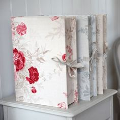 Kate Forman Fabric covered Box Files