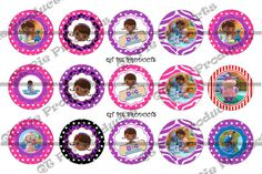 ♮∂ Inspired #Doc McStuffins 1 #inch Bottlecap Images digital 4x6 collage sheets bottle http://etsy.me/2cOtGv5