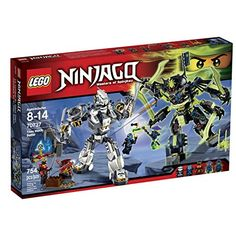 Buy LEGO Ninjago Titan Mech Battle 70737 - Find a superb collection of toys and games from Hamleys. We offer fast, efficient delivery on a wide range of toys and games, all available with premium gift wrapping! Lego Ninjago 2015, Lego Ninjago Movie, Lego Batman, Lego Marvel, Spiderman, Legos, Power Rangers, Pokemon, All Lego