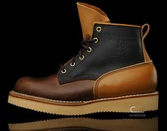 """C Store works a special Viberg Boot for their tough Swedish winters. In their words: """"We met the Viberg Boot rep in Paris last winter, and got offered to do a special design. Here it is. We choose their classic """"Bobcat, Style 36 Boot"""". Using 3 shades of brown leathers. Ice Mocha on the Vamp, Brown Quarters amd Tan Teton on counter and back stay. It all ads up with the ultra rugged beige 2021 Vibram Sole. The construction of a Viberg boot is simply just amazing."""""""