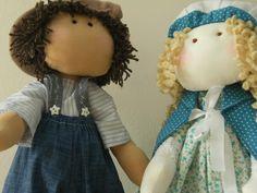 BONECO FREDERICO E BONECA NATALIE - inspiradas nas bonecas de Millyta Vergara