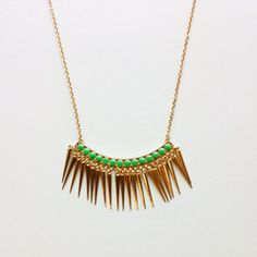 Bahar Jewelry- Ephesus fringe turquoise necklace $20
