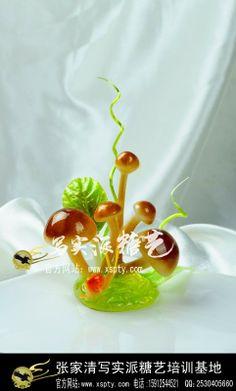 """Sugar Arts dish decorated"