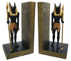 Pair Of Egyptian Jackal God Anubis Bookends Book Ends by Private Label, http://www.amazon.com/dp/B003L14ZO2/ref=cm_sw_r_pi_dp_.cmurb08H6D7Y