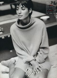 Christy Turlington by Patrick Demarchelier for Vogue Italia, Nov. 1990, styled by Anna Dello Russo