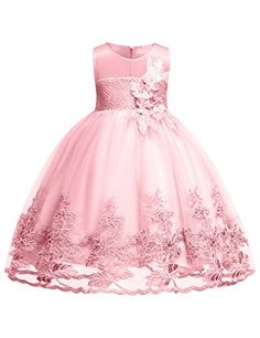 KONIGHT Toddler Baby Girls Dress Backless Sleeveless Sundress Summer Wedding Party Outfits Clothes