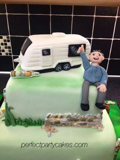 Caravan cake Cake Pics, Cake Pictures, Birthday Cakes For Men, 50th Birthday, Caravan Cake, Car Cakes, Camping Theme, Novelty Cakes, Celebration Cakes