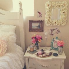 inspiiration for my new room :) Dream Rooms, Dream Bedroom, Home Bedroom, Bedroom Decor, Bedroom Colors, Bedroom Ideas, Pretty Bedroom, Bedroom Inspiration, Shabby Bedroom