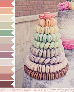 colour palette : pastel rainbow, curated by Emma Lamb / photography by onelove photography - via Style Me Pretty