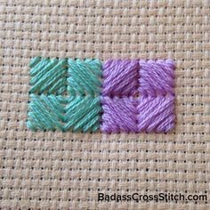 Week 9: Cushion Stitch Example #YearofStitch (via badasscrossstitch.com)