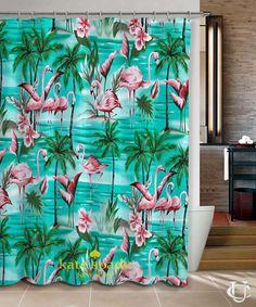 New Hot Flamingos Pattern Kate Spade Shower Curtain