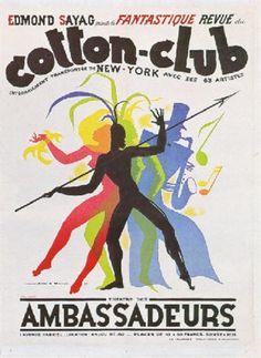 Jean A. Mercier (français, né en 1899) Titre : Théâtre des Ambassadeurs. Cotton Club. La plus fantastique revue intégralement transportée de New-York , 1937 - 1937