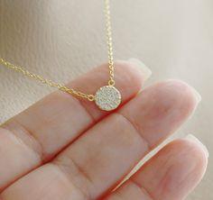 Tiny Circle crystal pave eternity circle layering by AdrianaSparks