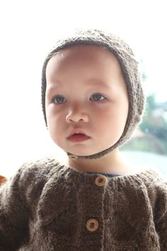 Miou alpaca cardigan and hat for babies and toddlers winter 2012