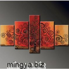Abstract Paintings Modern Wall Art Canvas Sets 5pcs Huge Acrylic on Canvas 79