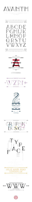AVANTH typeface by Noem9 Studio (via Creattica)