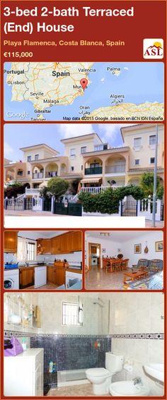 3-bed 2-bath Terraced (End) House in Playa Flamenca, Costa Blanca, Spain ►€115,000 #PropertyForSaleInSpain