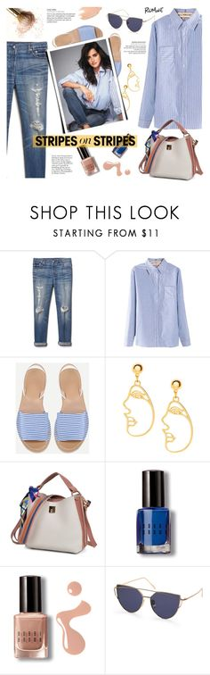 """""""Romwe. Stripes on Stripes."""" by imurzilkina ❤ liked on Polyvore featuring Gap, Bobbi Brown Cosmetics, Too Faced Cosmetics, stripesonstripes and PatternChallenge"""