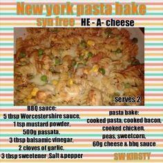 bbq chicken pasta bake slimming world Chicken Pasta Bake, Chicken Pasta Recipes, Bbq Chicken, Healthy Chicken, Slimming World Dinners, Slimming World Recipes, Slimming Eats, How To Cook Pasta, How To Cook Chicken